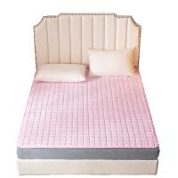 被窝窝亲肤夹棉四季防滑床垫榻榻米软垫保护垫薄款可水洗 粉色