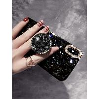 XS MAX亮片硅胶iphone8plus手机壳苹果X新款iphone7简约女款带钻支架8黑色iphonex软壳6透明
