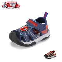 【99元任选3双】迪士尼Disney童鞋儿童沙滩鞋时尚潮流2019春夏新款婴幼童小童凉鞋男童鞋子潮(2~6岁可选)Q0
