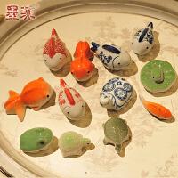 陶瓷可漂浮小浮鱼缸摆件家居家装饰时尚创意简约工艺品