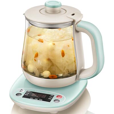 小熊(Bear)养生壶全自动加厚玻璃 电热烧水花茶壶煮茶器 YSH-A08H10.8升 微电脑预约定时 八大养生功能