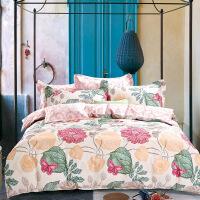 当当优品家纺 纯棉斜纹印花床品 双人床单四件套 恋在巴黎