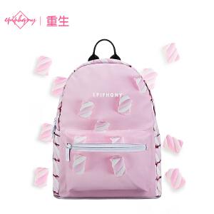 【下单立减50: 79】【支持礼品卡支付】Epiphqny重生日韩甜美清新粉色系棉花糖女学生双肩背包书包
