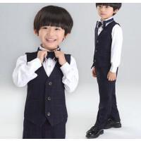 立体前裁 韩版修身男童小西装儿童马甲背心主持中大童西服花童礼服男孩宝宝