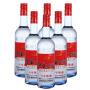 【酒界网】红星 53度红星(8)蓝瓶二锅头750ml * 6瓶  白酒