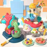 面条机玩具橡皮泥无毒彩泥儿童模具工具套装冰淇淋女孩手工粘土机