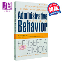 【中商原版】管理行为	英文原版	Administrative Behavior, 4th Edition