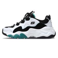 Skechers斯凯奇男鞋新款D'LITES熊猫鞋 复古厚底增高老爹鞋999878