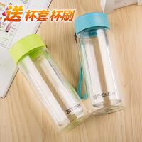 富光双层玻璃杯便携水瓶创意过滤杯子水杯男女士带盖茶杯280ml