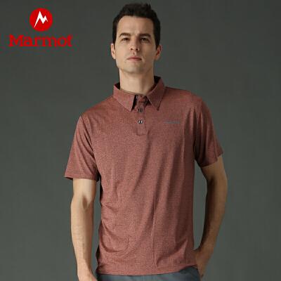Marmot/土拨鼠春夏户外运动男士速干短袖衬衣休闲排汗轻薄舒适Polo衫 VIP专享96折