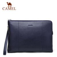 Camel/骆驼男包男士真皮信封包时尚休闲手拿包牛皮手包软皮大容量