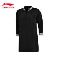 李宁风衣女士运动时尚系列开衫长袖防风服外套休闲运动服AFDM124