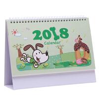 日历2017-2018年定制创意卡通摆件简约桌面小清新月历记事本台历