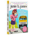 英文原版 Junie B. Jones is First Boxed Set Ever 1-4 童书套装