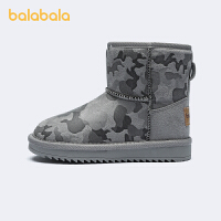 【2件5折价:99.5】巴拉巴拉童鞋女童雪地靴儿童短靴男童宝宝棉靴时尚2021年新款冬季