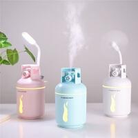 新款煤气罐加湿器USB迷你七彩灯多功能便捷空气净化补水静音加湿