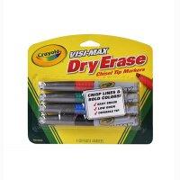 Crayola绘儿乐 98-8902 易擦白板4色粗头水彩笔 当当自营