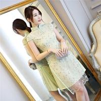 短款时尚蕾丝旗袍晚宴礼服 X
