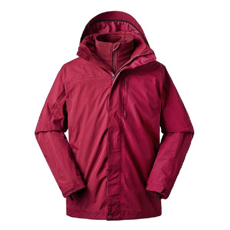 Marmot/土拨鼠秋冬户外服装三合一抓绒冲锋衣 Membrain防水透气面料 可拆卸抓绒内衬