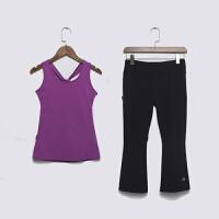格宁新款瑜伽服女套装春夏修身显瘦背心速干运动跑步健身房