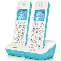 集怡嘉A190L 冰湖蓝 套装 Gigaset原西门子品牌电话机A190L数字无绳电话一拖一中文显示双免提屏幕背光家用