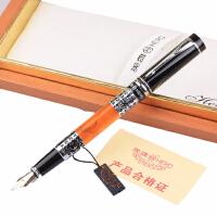 英雄钢笔正品 英雄HERO 1023亚克力黑亮铱金笔 钢笔 墨水笔