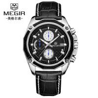 男士手表 新款计时日历男士手表 多功能计时表盘