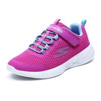 Skehers斯凯奇女童鞋新款魔术贴大童休闲鞋儿童运动鞋