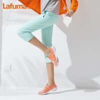 Lafuma乐飞叶户外吸湿透气裤女 修身弹力运动休闲女士八分裤子LFPA9BS31