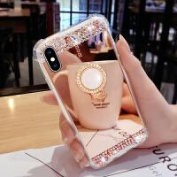 苹果7plus手机壳X网红抖音新款7P全包防摔镜面iphone8plus硅胶7女