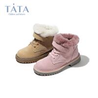 【券后价:174.4元】他她Tata童鞋儿童马丁靴女童时尚靴子雪地靴中童马丁靴