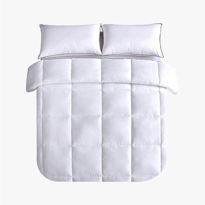 当当优品贡缎冬被 全棉立体超细羽丝绒被芯220x240cm双人加大被子 白色当当自营