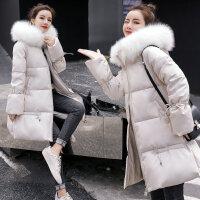 女冬装加厚棉衣大码外套2019年冬季新款孕妇中长款棉袄