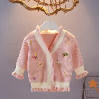 女宝宝毛衣秋冬装针织外套0-1-3-4岁女童毛线衣 韩版婴儿衣服开衫NKMJHG-0945