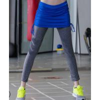 速干 假两件运动裤裙女 弹力紧身显瘦瑜伽长裤秋冬跑步健身服  支持礼品卡