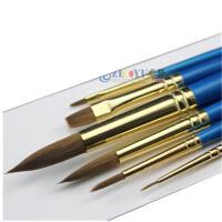 温莎牛顿蓝杆水粉笔套装混合貂毛 水彩画笔 6支装8606