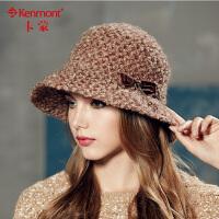 kenmont卡蒙时尚帽子 女帽盆帽礼帽 女 英伦圆顶礼帽2373