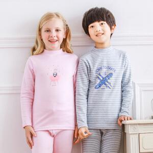 彩桥 A类儿童内衣套装男女童热力棉保暖内衣套装加厚纯棉秋衣秋裤