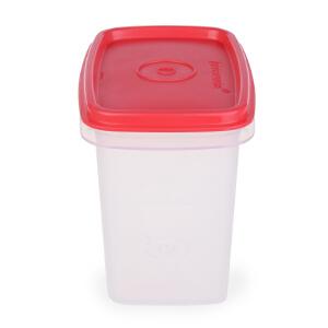 特百惠专柜正品 调料世家800ml叠叠高干货储藏保鲜盒调料盒子 浅粉红盖无勺子