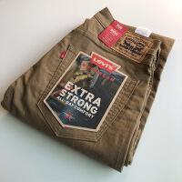 新款直筒牛仔男美国工作裤牛仔裤男士宽松直筒弹力28930-0006 卡其色