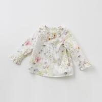[2件3折价:74.1再领120��]戴维贝拉春季新款女童碎花衬衣 宝宝休闲衬衫DB9947