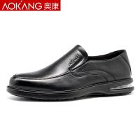 奥康男鞋男士商务休闲鞋软底气垫英伦真皮休闲单鞋