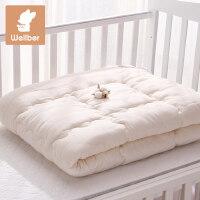 威尔贝鲁 全棉花婴儿纱布被芯宝宝纯棉幼儿园被子秋冬厚款