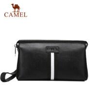 Camel/骆驼男包男士真皮手拿包商务休闲牛皮手包男大容量手抓包包