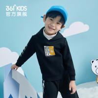 361度童�b 男小童�L袖套�^�B帽加�q保暖�l衣加2020冬季新品小童�和��\�有蓍e上衣