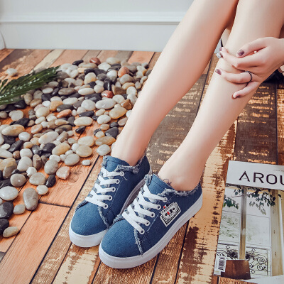 ELEISE美国艾蕾莎新品060-2618休闲牛仔布女士布 鞋