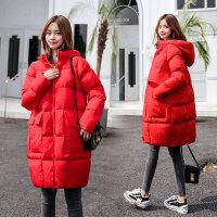 孕妇韩版宽松棉衣冬季加厚棉袄孕后期中长款秋冬装外套