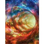 预订 Outer Space Composition Notebook Wormhole, Wide Ruled: L