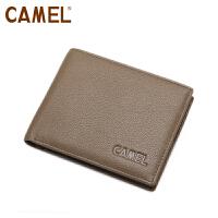 Camel 骆驼 头层牛皮 钱包 男士横款钱夹 大钞夹