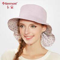 女帽子女 夏天户外大沿防晒帽 防紫外线双面可拆遮阳帽 折叠护颈渔夫帽遮脸女帽3009